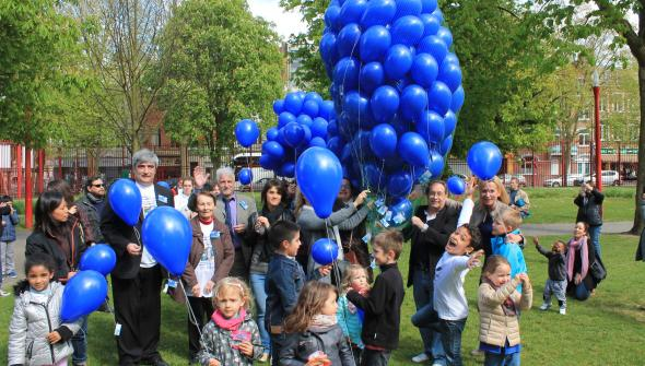 Envol des ballons du 25 avril 2015