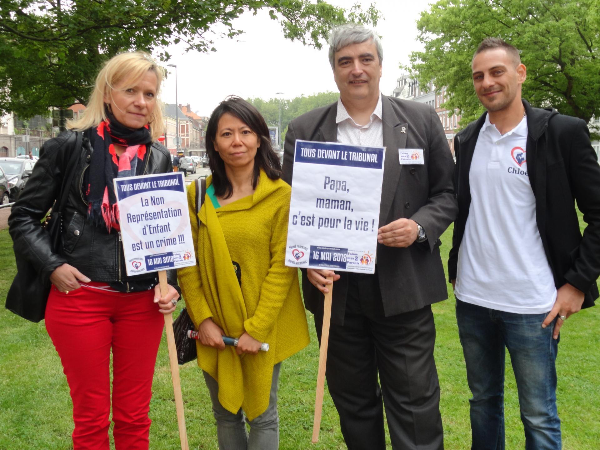 Journée de mobilisation pour l'équité parentale au TGI de Lille