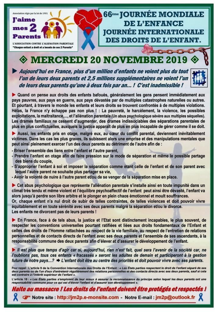Journée internationale de l'Enfant et de ses droits - 20 novembre 2019