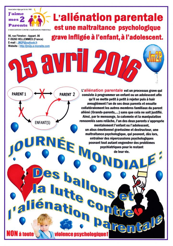 """OPERATION BALLONS 2016"" contre l'aliénation parentale"