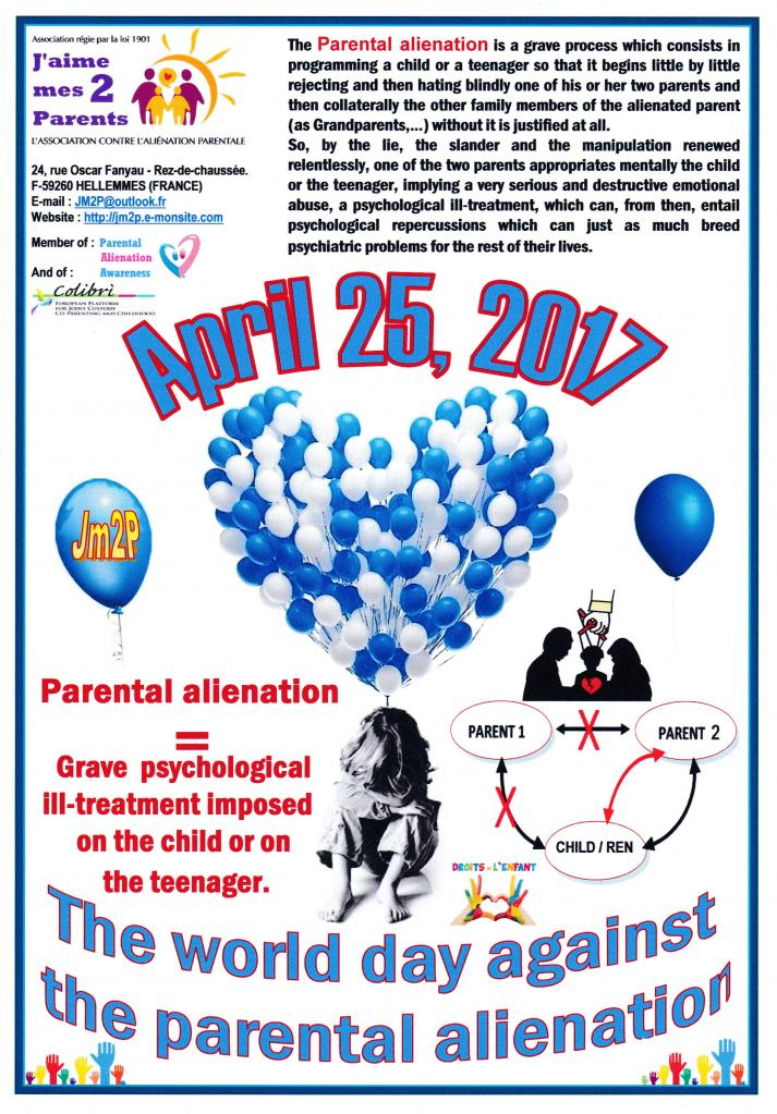 "Affiche ""Balloons 2017"" against parental alienation"