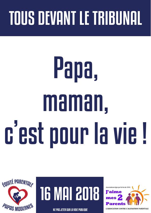 Mouvement national pour l'équité parentale - 16 mai 2018