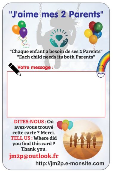 Opération 25 avril 2019 - Carte pour l'envoi des ballons - message