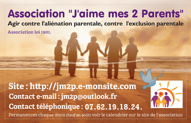 La Carte De Visite Lassociation Jaime Mes 2 Parents