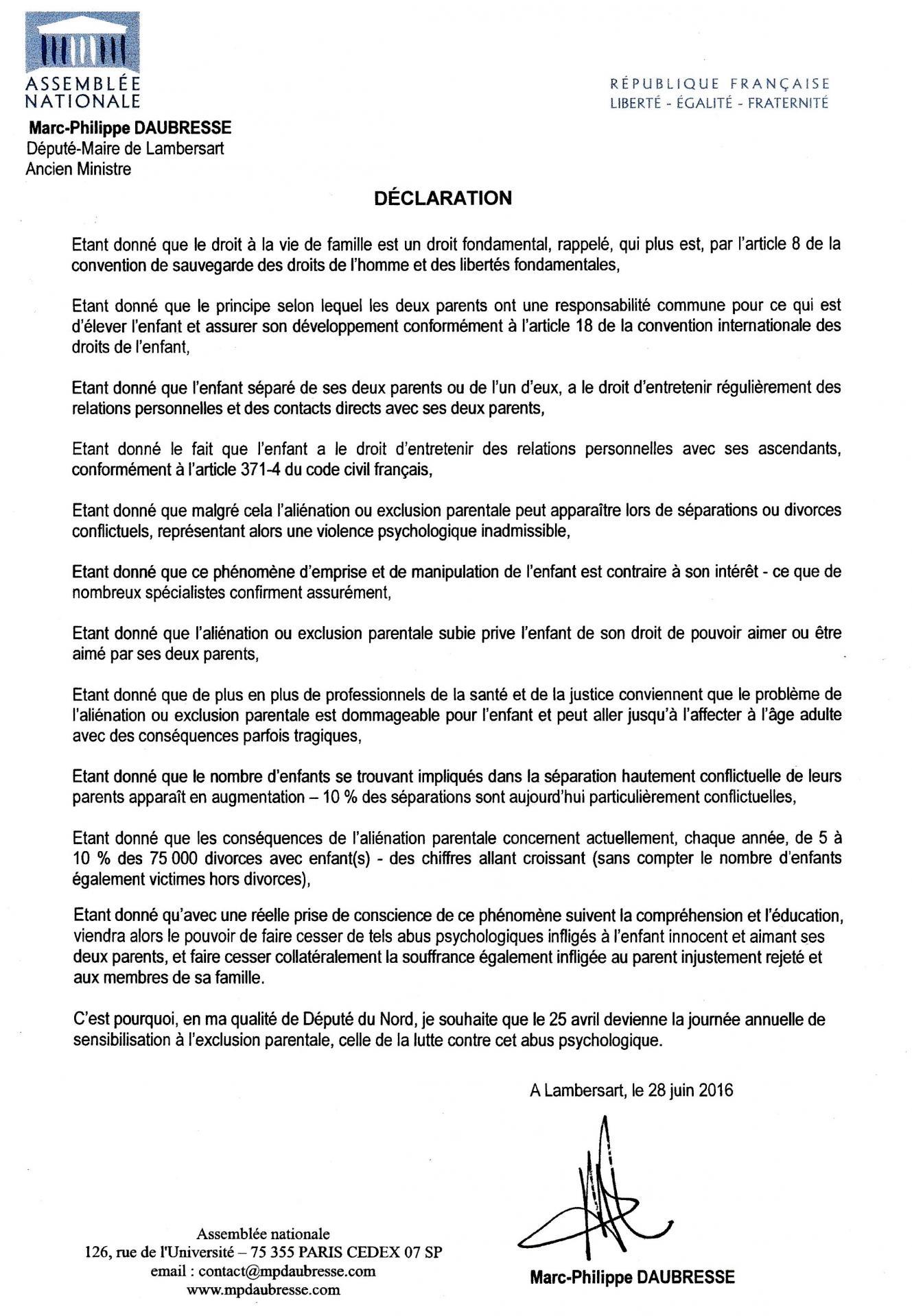 Declaration m p daubresse 06 2016