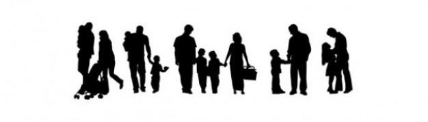 Personnes de la famille vector pack silhouettes 279 401