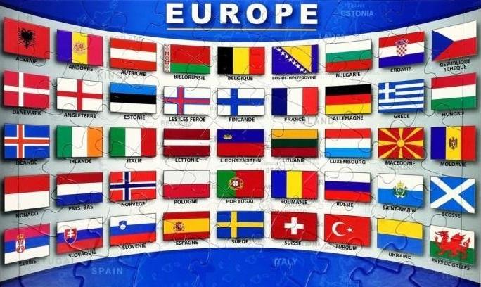 Puzzle drapeau de l europe avec pays jouet enfa