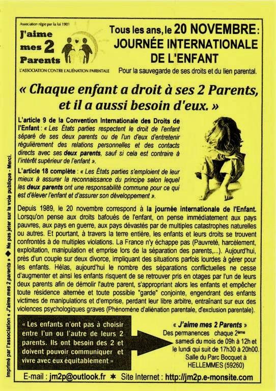 Tract pour la journee mondiale de l enfant